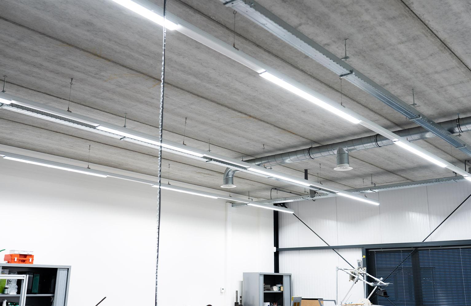 Ledverlichting werkplaats